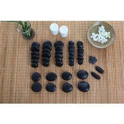 Hot Stone Massage 50 Piece Set with Manual and DVD