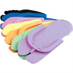 Notched Toe Thong Pedicure Slippers 12 Pairs