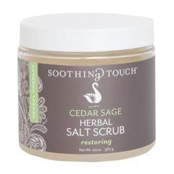 Soothing Touch Salt Scrub Cedar Sage 20 oz.