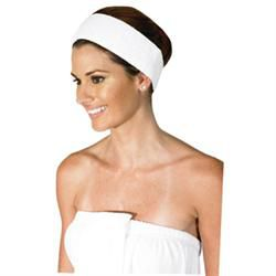Betty Dain Terry Headband With Velcro White