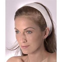 Disposable Polyester Headband White 48 Pack