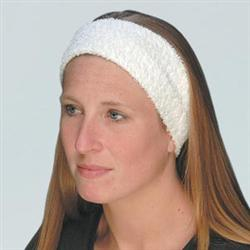 White Terry Velour Headband 3.5' Wide 3 Pack