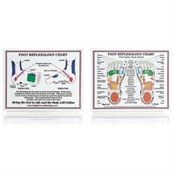 "Laminated Foot Reflexology Chart 8.5"" X 11"""