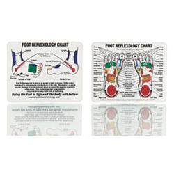 "Mini Foot Reflexology Chart 4""X5"""