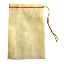 Muslin Cloth Plain Drawstring Bag 4X6""