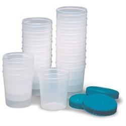 Specimen Cups With Lids 4 Oz, 20/Pkg