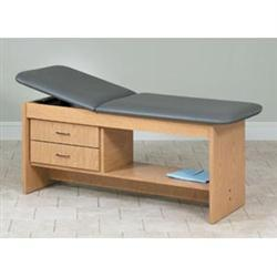Straight Line Treatment Table With Drawers & Shlv