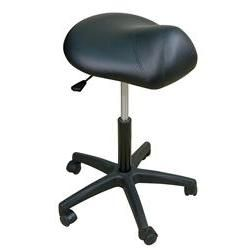 "Oakworks Premium Saddle Stool 19-25""H"