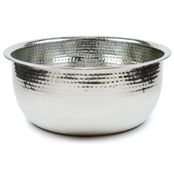 Pedicure Bowls by Noel Asmar - Hammered Stainless Steel