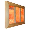 Saltability Himalayan Salt Panel in Cedar Frame with Bricks