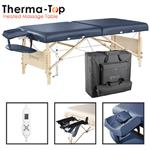 "Master® Massage Equipment 30"" Coronado™ Portable Massage Table Package with Therma-Top® Royal Blue"