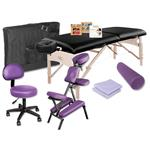 Just Give Me Massage Equipment Package - Massage Table, Chair, Stool, Bolster & Sheet