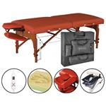 "Master® Massage Equipment 31"" Santana™ Portable Massage Table w/ Therma-Top® Package Mountain Red"