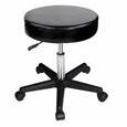 Master® Massage Equipment Beauty Rolling Swivel Stool Black