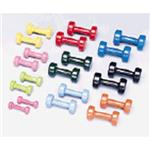 Vinyl Coated Cast Iron Dumbbell Set 1-10Lbs - 1 Pair Per Weight