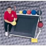 Single Tier Free Standing Ball Rack for Plyoback Rebounders