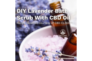 DIY Lavender Bath Scrub With CBD Oil