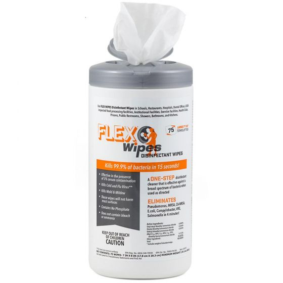 FLEX® Wipes Disinfectant Wipes – 75ct Canister