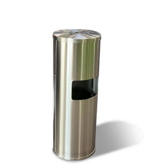 Zehn-X Stainless Steel Wipe Dispenser Trash Can