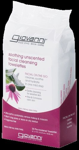 Giovanni® Soothing Unscented Facial Cleansing Towelettes 30/Pack