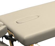 Custom Craftworks™ Table Option - Crescent Face Hole with Pillow and Plug