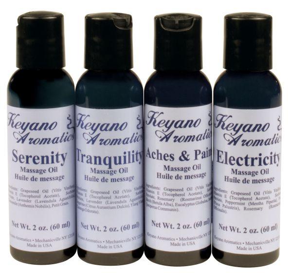 Keyano Aromatherapy Massage Oils 2 Oz