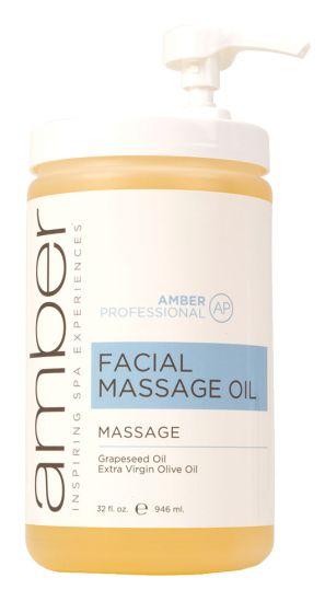 Amber Professional Facial Massage Oil, 32 oz.