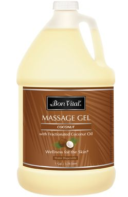 Bon Vital'® Coconut Massage Gel with Pure Fractionated Coconut Oil