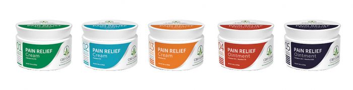 CBD Clinic™ Pain Relief Ointments & Creams - Topical Analgesic Professional Series - 44g Jars