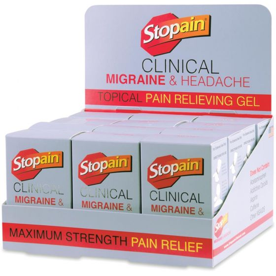 Stopain® Clinical Migraine & Headache Topical Gel – Buy 1 Get 1 50% OFF