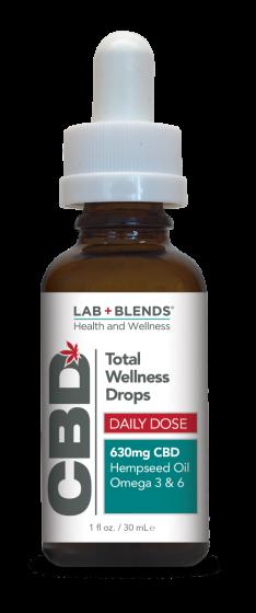 Lab+Blends™ 630mg CBD Oral Tincture - 1 oz by BIOTONE®