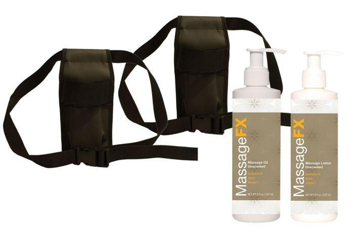 Double Massage Holster Kit for Massage Lotion & Oil Bottles