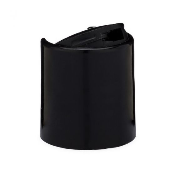 Black Plastic Smooth Disc Cap 2 oz.