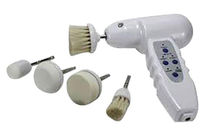 Portable Sonic Facial & Body Brush 6Pc Set
