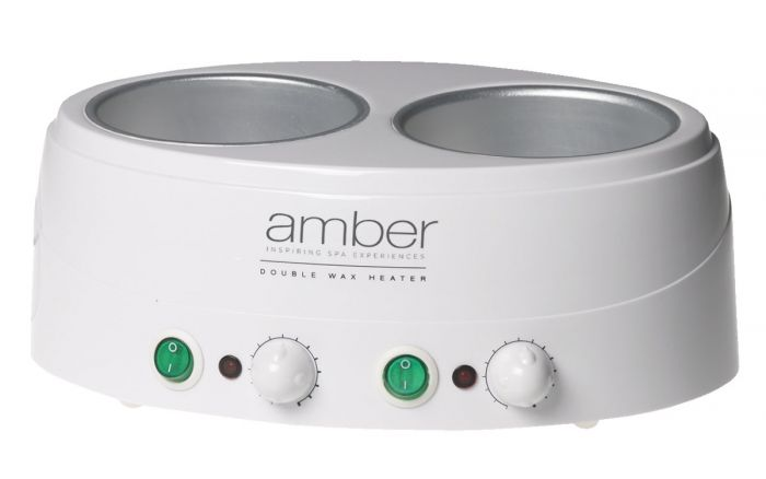 Amber Double Wax Heater - Two 14 oz. Capacity