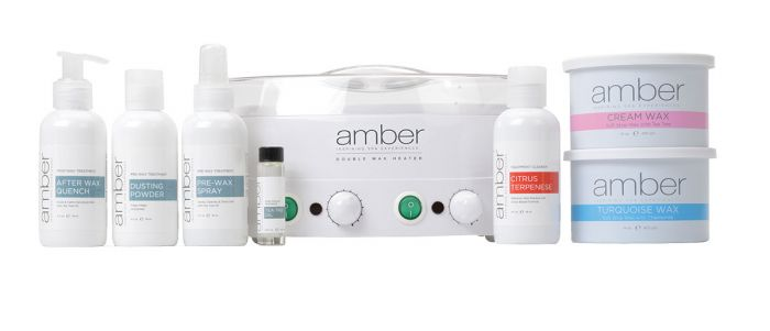 Amber Double Master Depilatory Kit with Double Wax Heater