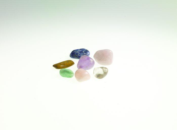 Amber Chakras 8 Semi-Precious Stones