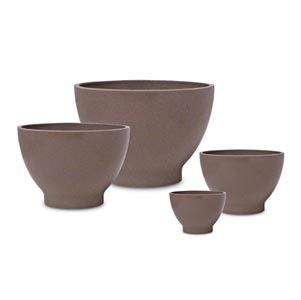 Four Rubber Bowls And Spatula Set