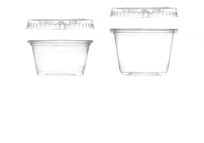 Disposable Mixing Cups and Lids 1 oz.