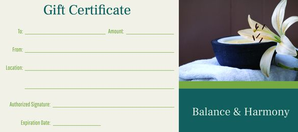 Massage Gift Certificates 20 Pack