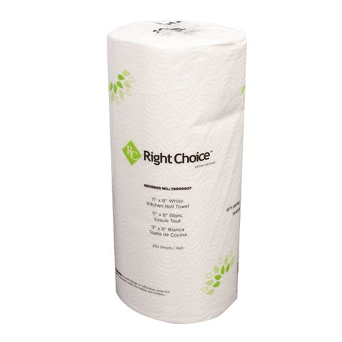 Right Choice™ Kitchen Towel Roll 2-Ply/ 12 pack