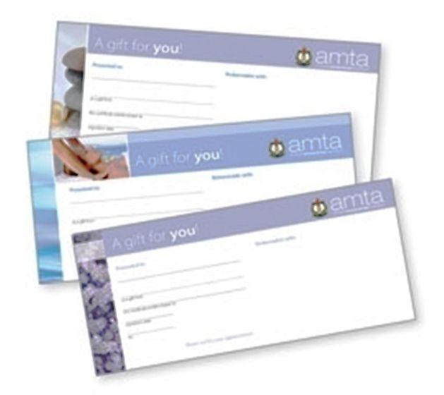 Amta Logo-Massage Therapy Gift Cert- New Designs