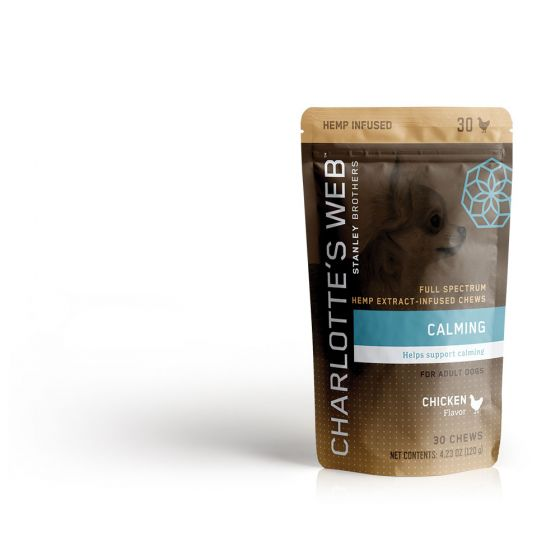 Charlotte's Web Hemp Extract Infused Chews for Adult Dogs 30 Ct
