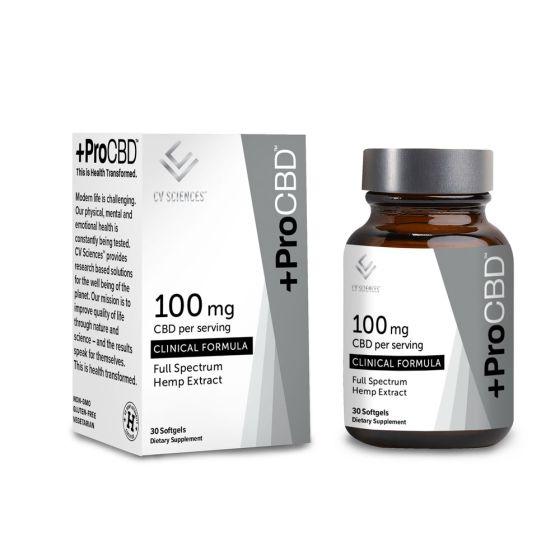 +ProCBD™ Softgels Clinical Formula – 100mg