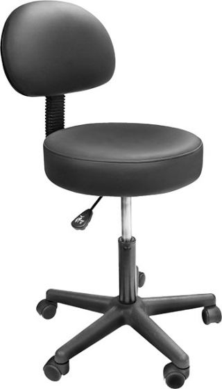 Custom Craftworks Solutions Rolling Stool with Back