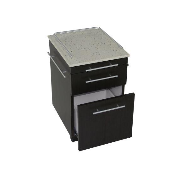 TouchAmerica Deluxe Pedi-Cart with Quartz-Stone Top