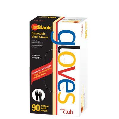 Product Club JetBlack® Disposable Vinyl Gloves - 90 ct. Box
