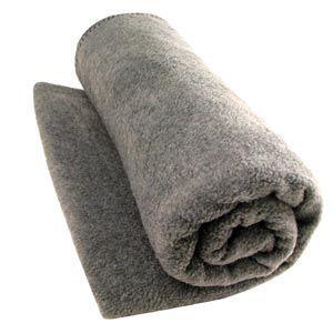 Wool Woven Blanket Gray 66