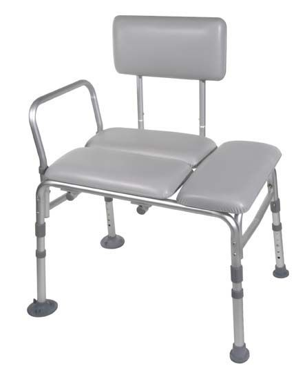 Drive Transfer Bench - Padded Seat & Backrest with Arm