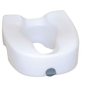 Premium Elevated Toilet Seat with Lock - Toilet Seat Riser for Regular & Elongated Toilets